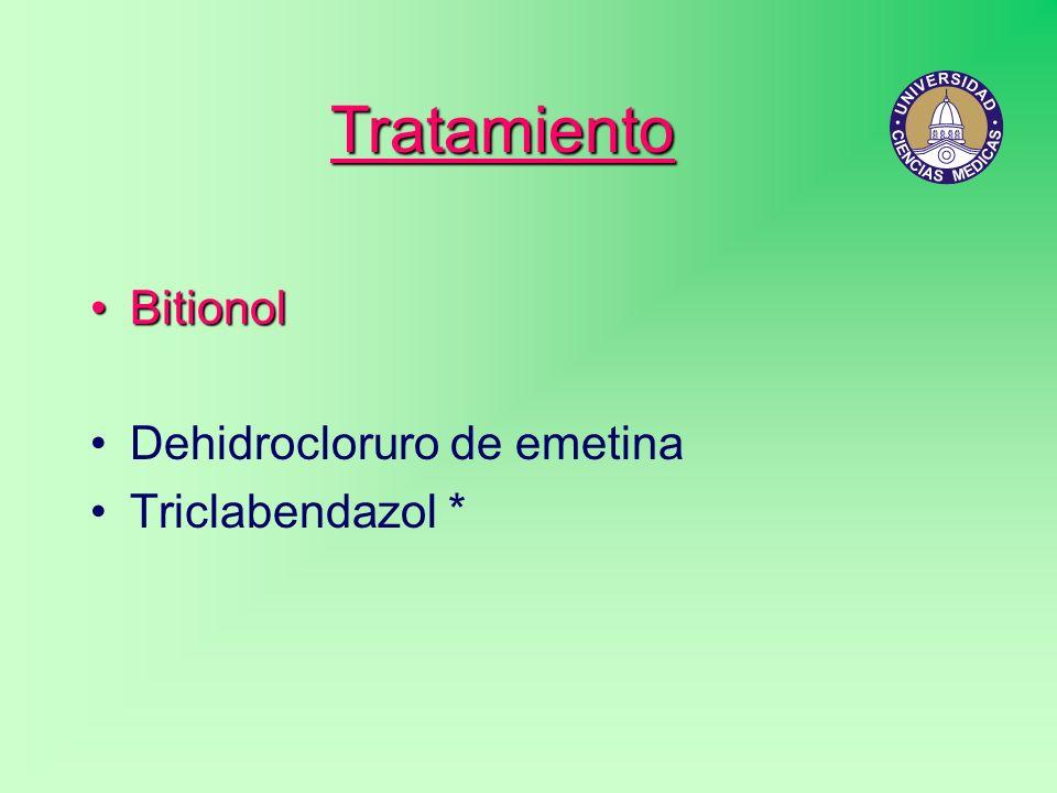 Tratamiento BitionolBitionol Dehidrocloruro de emetina Triclabendazol *
