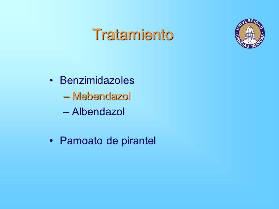 Tratamiento Benzimidazoles –Mebendazol –Albendazol Pamoato de pirantel