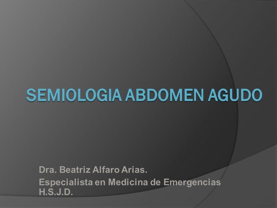 Dra. Beatriz Alfaro Arias. Especialista en Medicina de Emergencias H.S.J.D.