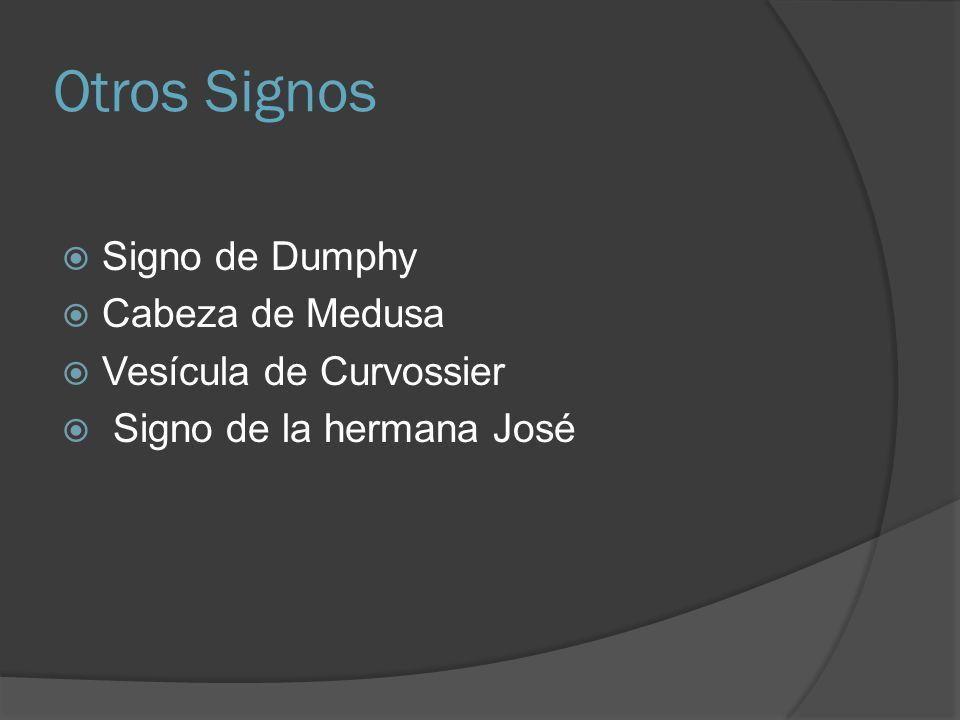 Otros Signos Signo de Dumphy Cabeza de Medusa Vesícula de Curvossier Signo de la hermana José