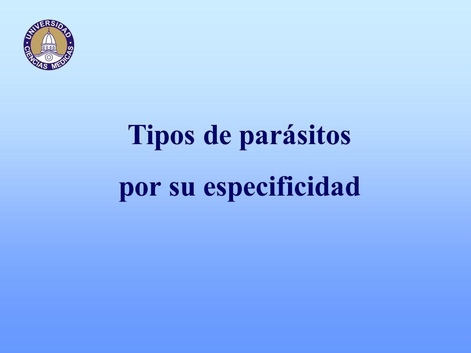 Tipos de parásitos por su especificidad