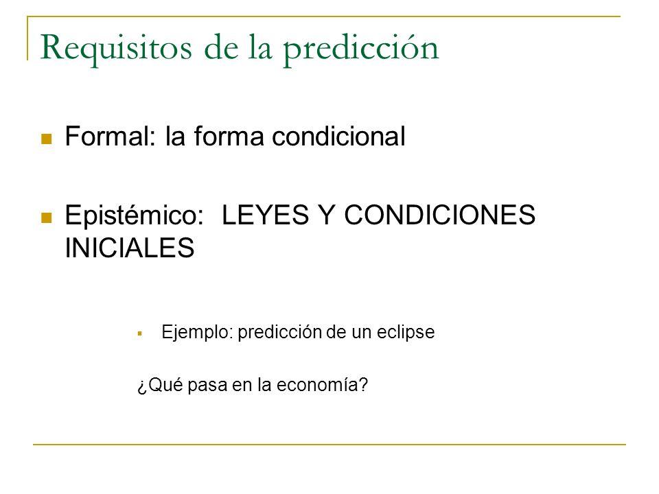 Tendencias y pronósticos Las predicciones en economía presuponen el empleo de TENDENCIAS (y no leyes) y son más bien PRONÓSTICOS (y no predicciones en sentido estricto) Ley: afirmación universal A B Vale incondicionalmente Tendencia: 1.