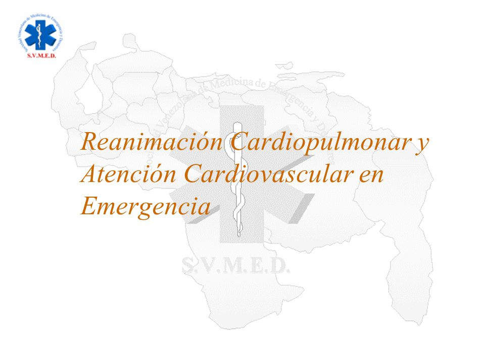 09/02/2014 Sociedad Venezolana de Medicina de Emergencia y Desastres RCP : Secuencia Básica Cambio de A-B-C a C-A-B La gran mayoría de los paros cardíacos se producen en adultos, y la mayor tasa de supervivencia la presentan los pacientes de cualquier edad que tienen testigos del paro y presentan un ritmo inicial de fibrilación ventricular (FV) o una taquicardia ventricular (TV) sin pulso.
