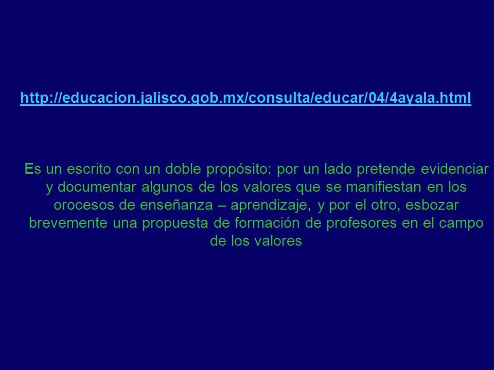 http://educacion.jalisco.gob.mx/consulta/educar/04/4ayala.html Es un escrito con un doble propósito: por un lado pretende evidenciar y documentar algu