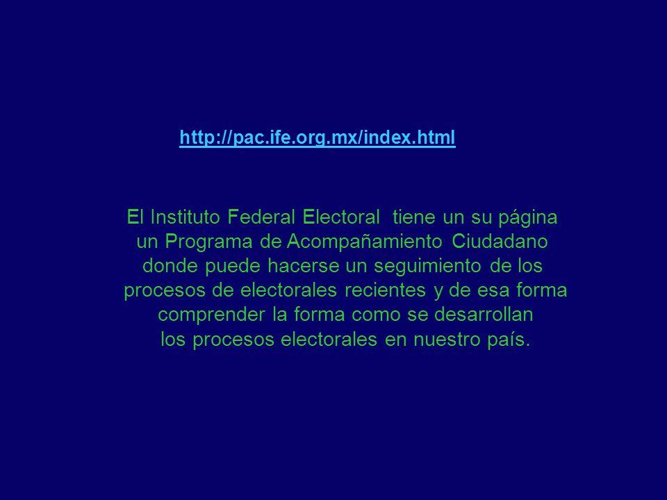 http://pac.ife.org.mx/index.html El Instituto Federal Electoral tiene un su página un Programa de Acompañamiento Ciudadano donde puede hacerse un segu