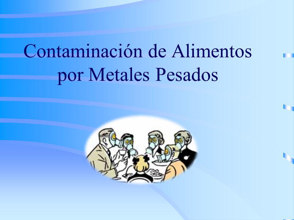 Contaminación de Alimentos por Metales Pesados