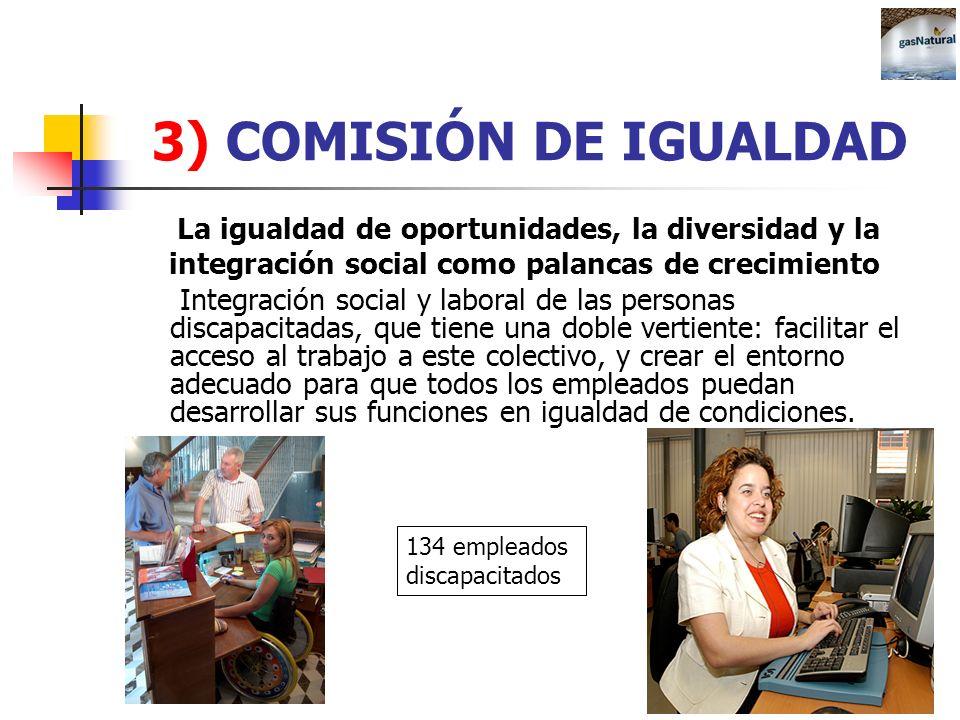 3) COMISIÓN DE IGUALDAD La igualdad de oportunidades, la diversidad y la integración social como palancas de crecimiento Integración social y laboral