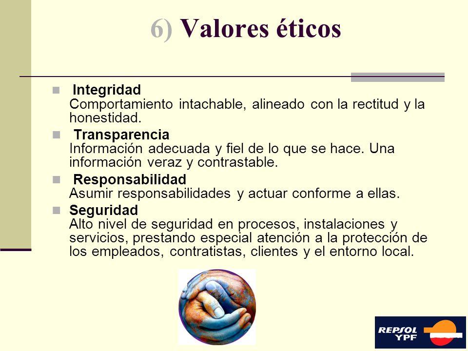 9 6) Valores éticos Integridad Comportamiento intachable, alineado con la rectitud y la honestidad. Transparencia Información adecuada y fiel de lo qu