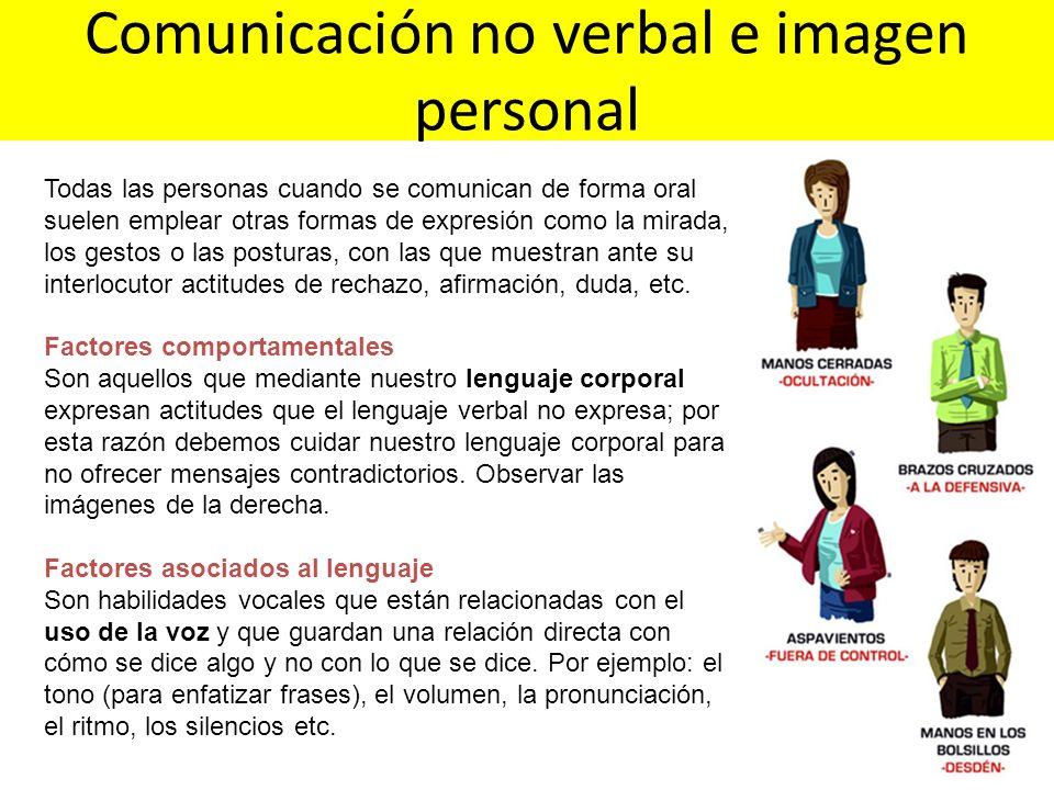 Todas las personas cuando se comunican de forma oral suelen emplear otras formas de expresión como la mirada, los gestos o las posturas, con las que m