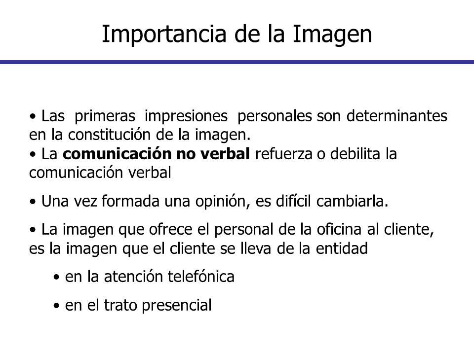 Las primeras impresiones personales son determinantes en la constitución de la imagen. La comunicación no verbal refuerza o debilita la comunicación v