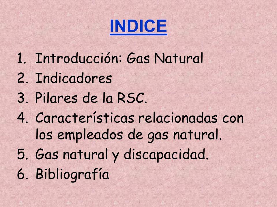 INDICE 1.Introducción: Gas Natural 2.Indicadores 3.Pilares de la RSC.