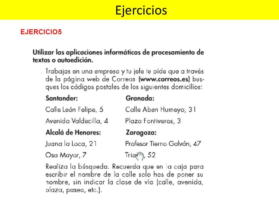 EJERCICIO5 Ejercicios