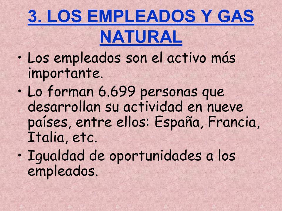 3. LOS EMPLEADOS Y GAS NATURAL Los empleados son el activo más importante. Lo forman 6.699 personas que desarrollan su actividad en nueve países, entr