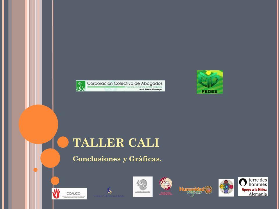 TALLER CALI Conclusiones y Gráficas.