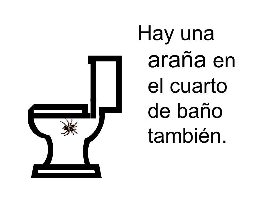 Hay una araña en el cuarto de baño también.