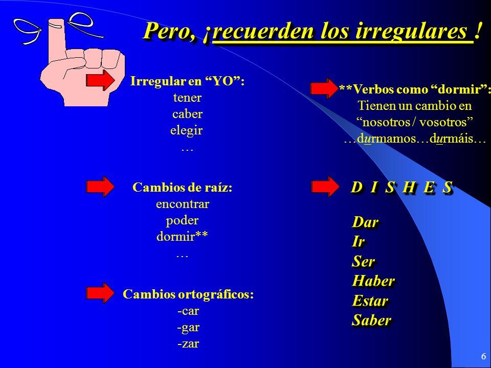 5 ¿Cómo se forma ¿Cómo se forma el presente del subjuntivo? el presente del subjuntivo? ¿Cómo se forma ¿Cómo se forma el presente del subjuntivo? el p
