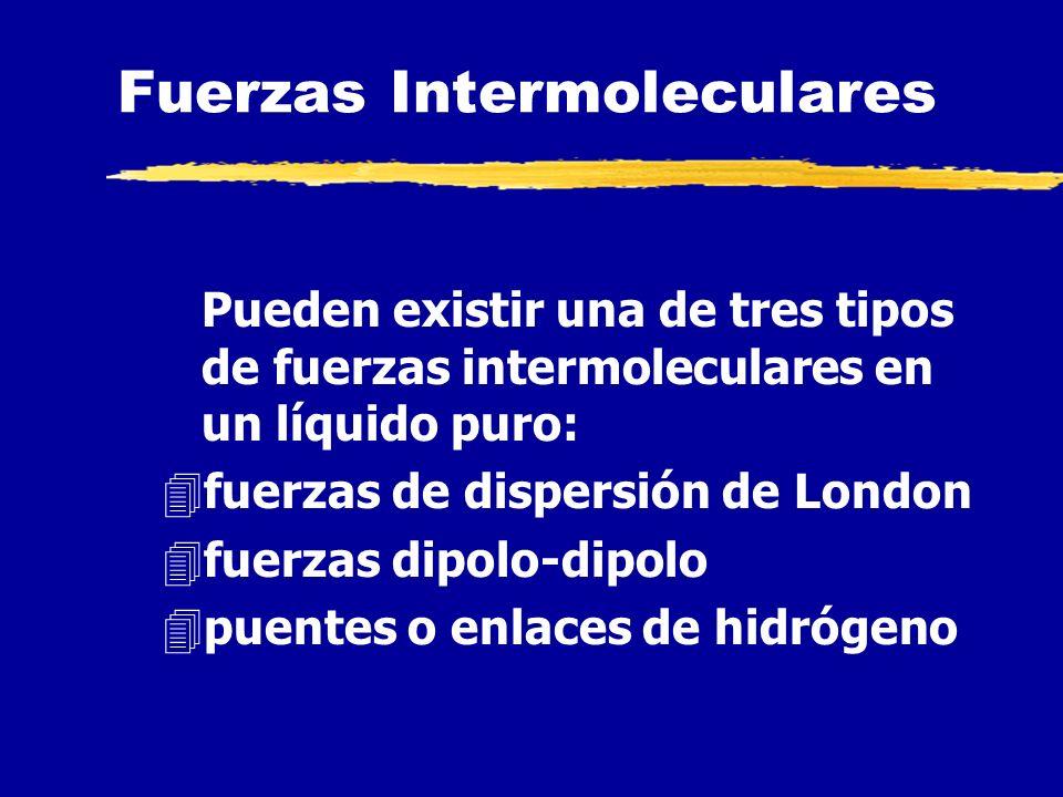LÍQUIDOS k Existe atracción entre sus moléculas (fuerzas intermoleculares) k Existe atracción entre moléculas similares (fuerzas cohesivas) k Puede ex