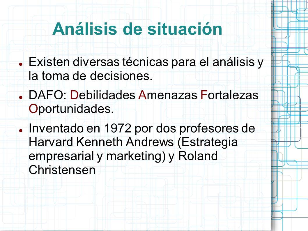 Existen diversas técnicas para el análisis y la toma de decisiones.