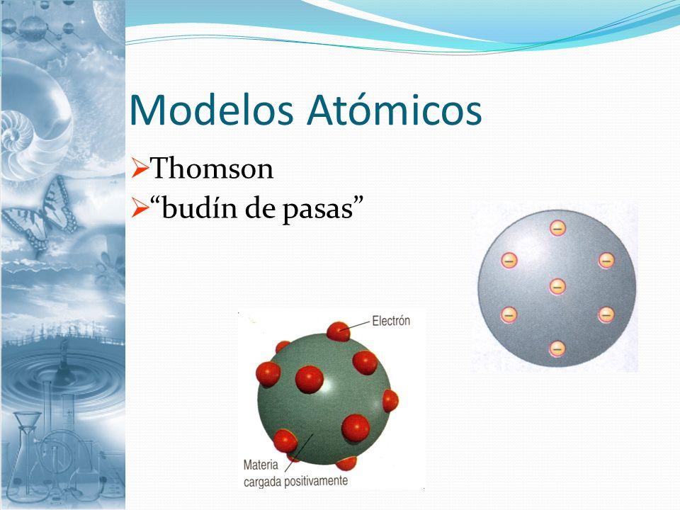 Modelos Atómicos Rutherford: Estableció que el átomo está formado por: Una región central, muy pequeña, llamada núcleo.