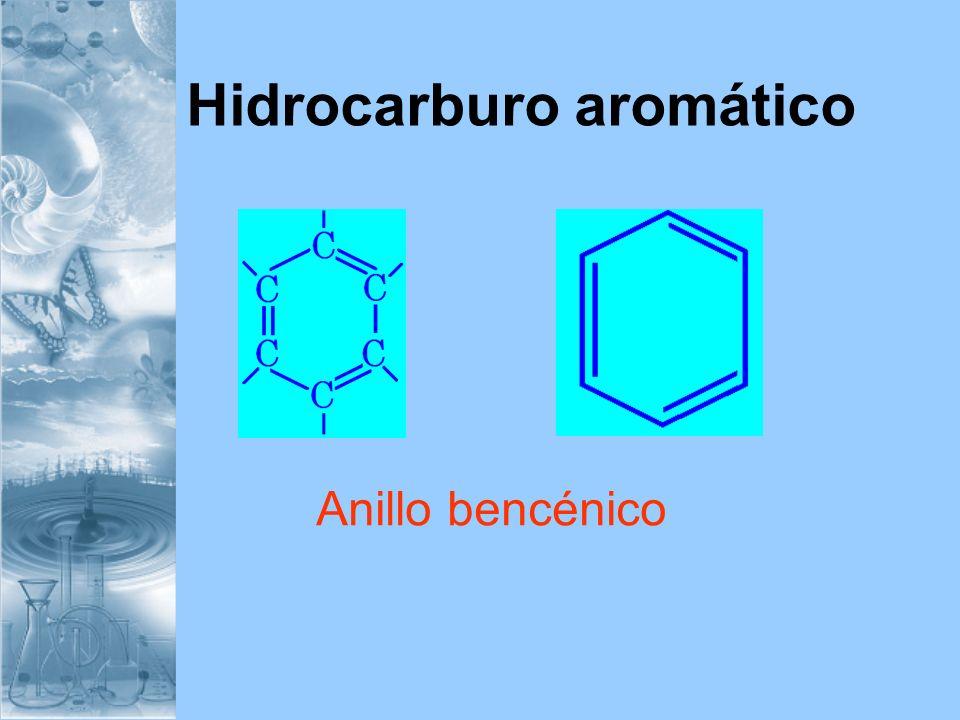 Hidrocarburo aromático Anillo bencénico