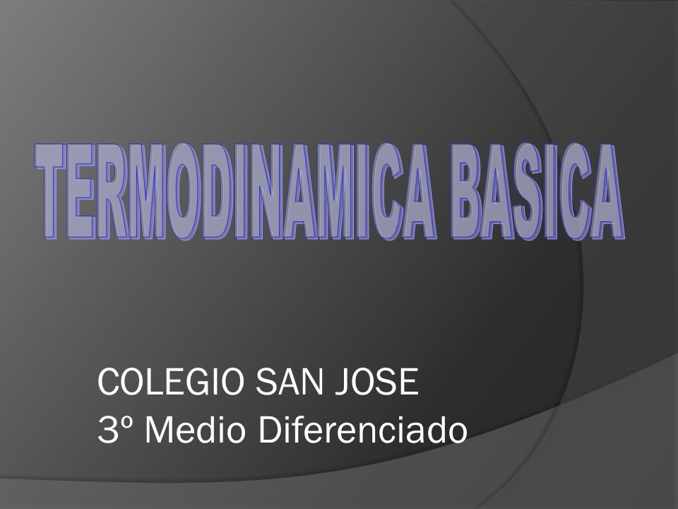 COLEGIO SAN JOSE 3º Medio Diferenciado