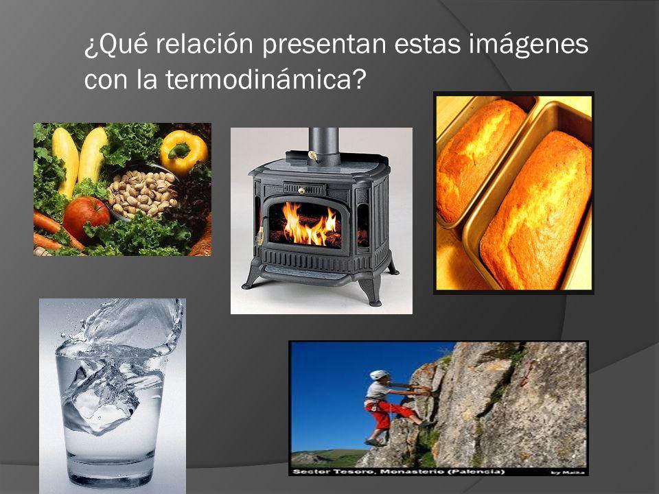 ¿Qué relación presentan estas imágenes con la termodinámica?
