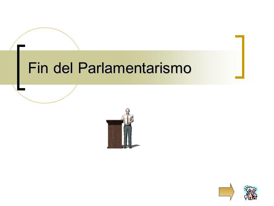 Fin del Parlamentarismo
