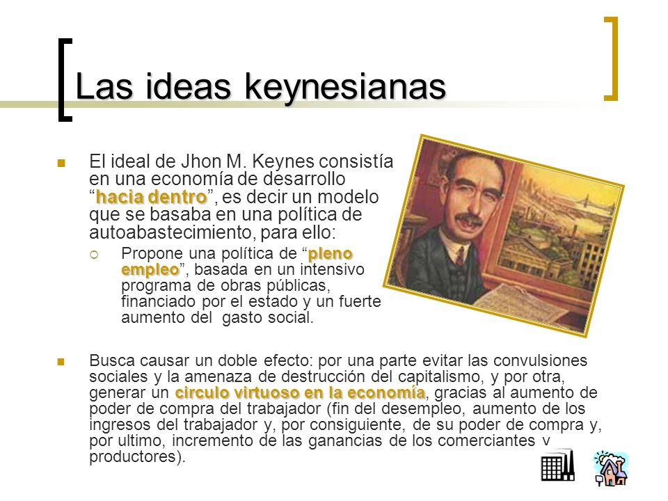 Las ideas keynesianas hacia dentro El ideal de Jhon M.