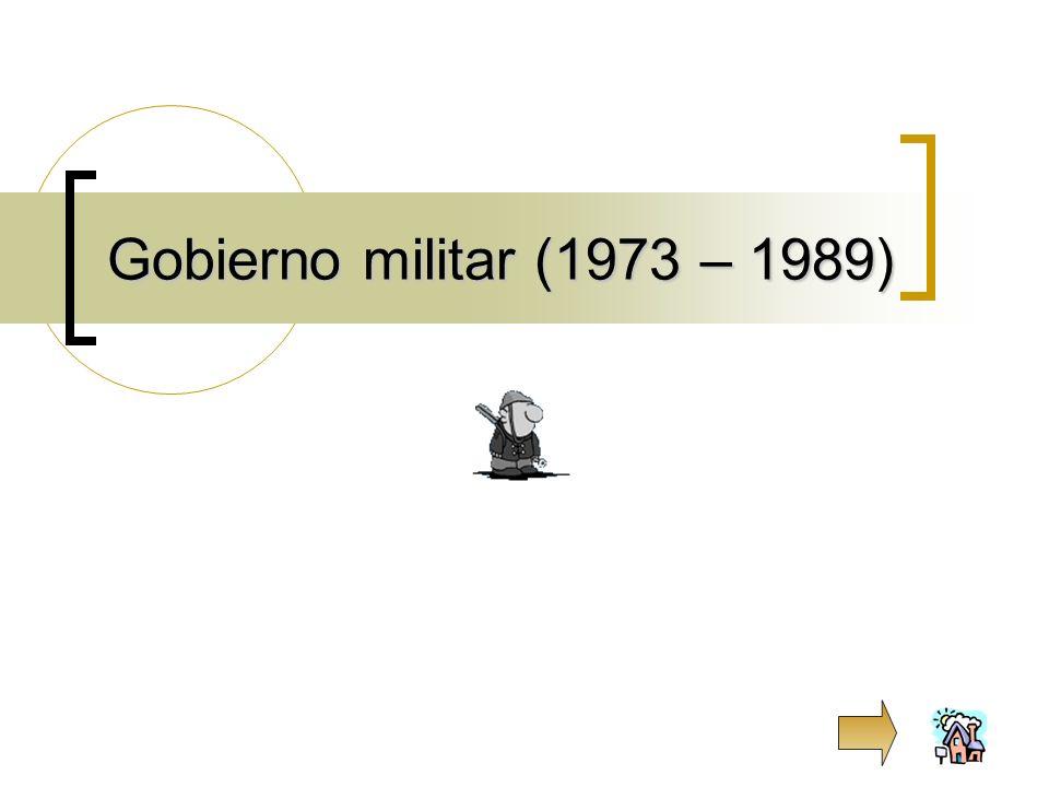 Gobierno militar (1973 – 1989)
