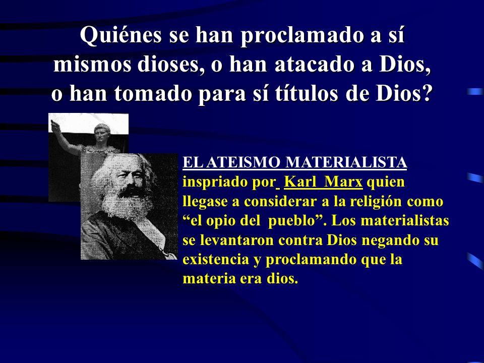 Los EMPERADORES ROMANOS se proclamaron a sí mismos divinos. Domiciano se hizo llamar Dominus et Deus, Señor y Dios; Aureliano proclamó la monarquía de