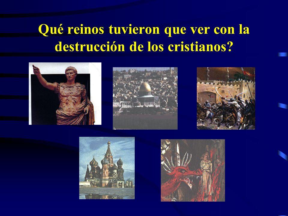 2. El anti-Cristo quebranta a los santos del Altísimo (Dan. 7:25) (el cuerno pequeño) Destruirá a los fuertes y al pueblo de los Santos (Dan. 8:24) El