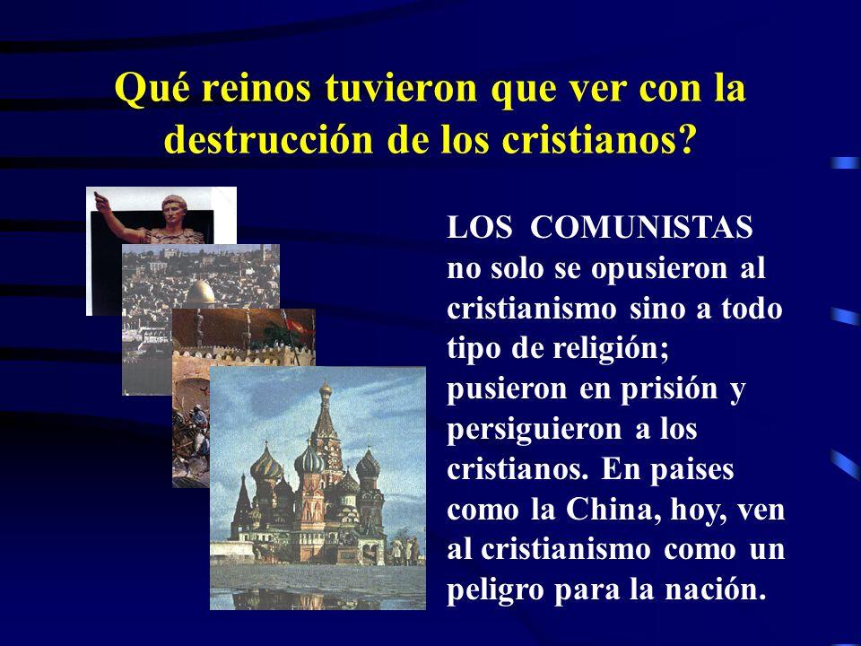 Qué reinos tuvieron que ver con la destrucción de los cristianos? LOS MUSULMANES también destruyeron a los cristianos en oriente en la época de las cr