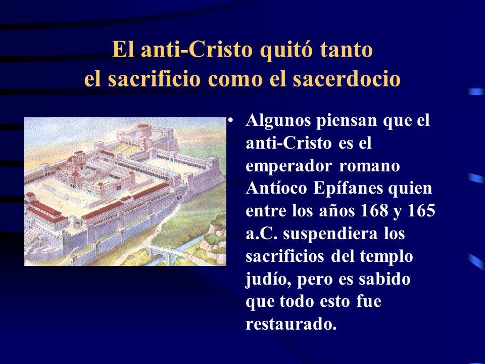 Qué había CONTINUAMENTE en el Santuario? Continuamente: Se celebraba un sacrificio que representaba el sacrificio de Cristo. Había sacerdocio que repr