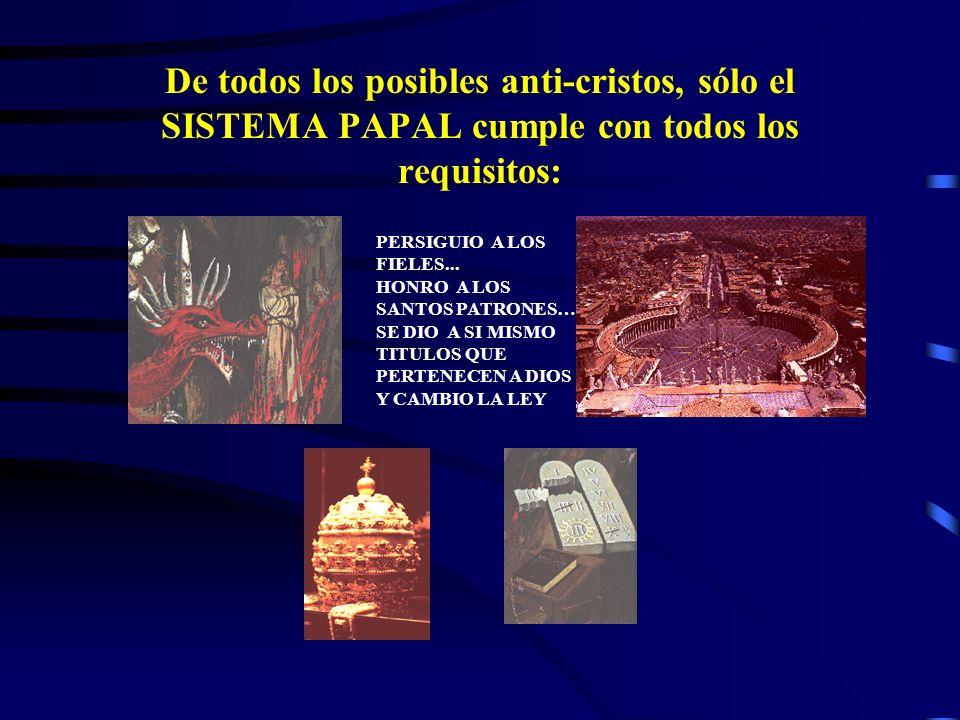 El anti-Cristo quitó tanto el sacrificio como el sacerdocio Pero hubo otro reino espiritual: EL PAPADO quien quitara el sacrificio y el sacerdocio de