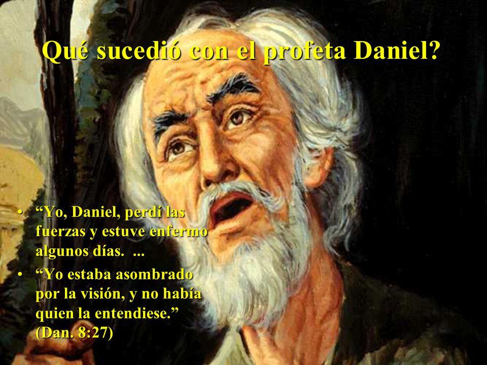 Y él le respondió: --Hasta 2.300 tardes y mañanas. Luego el santuario será restaurado. (Dan. 8:14)Y él le respondió: --Hasta 2.300 tardes y mañanas. L