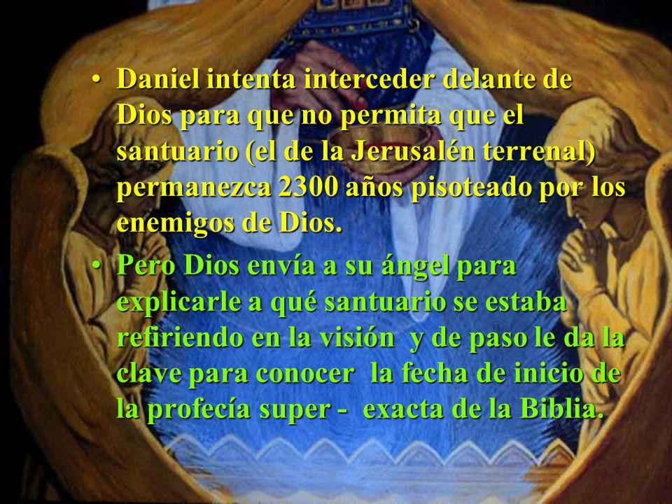 Daniel sí tenía mucha razón de estar preocupado! El sabía que el Santuario permanecería desolado no 2300 días (unos 6 años) sino 2300 años!!Daniel sí