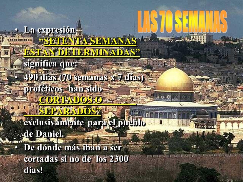 QUE PERIODO DE TIEMPO LE DARIA DIOS A ISRAEL Y QUE ESPERABA QUE SE PRODUJESE AL FINAL DEL MISMO?QUE PERIODO DE TIEMPO LE DARIA DIOS A ISRAEL Y QUE ESP