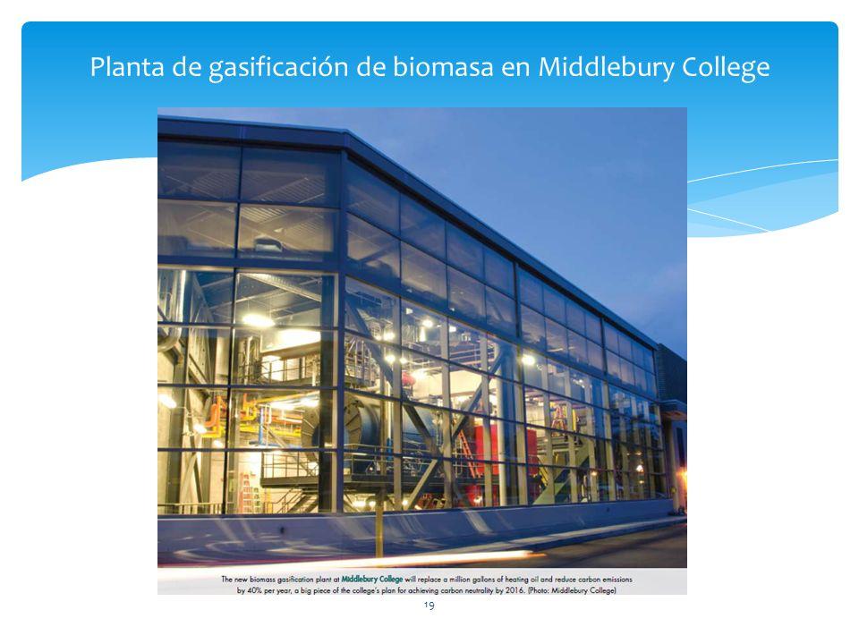 Planta de gasificación de biomasa en Middlebury College 19