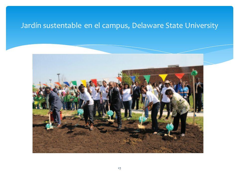 Jardín sustentable en el campus, Delaware State University 23