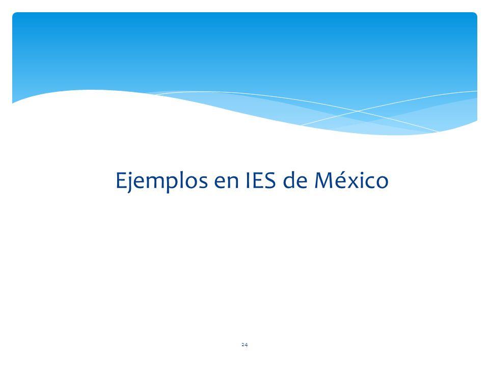 Ejemplos en IES de México 24