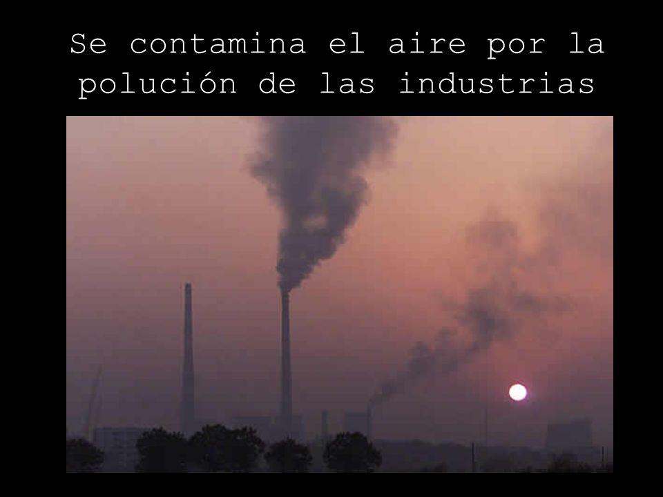 Se contamina el aire por la polución de las industrias