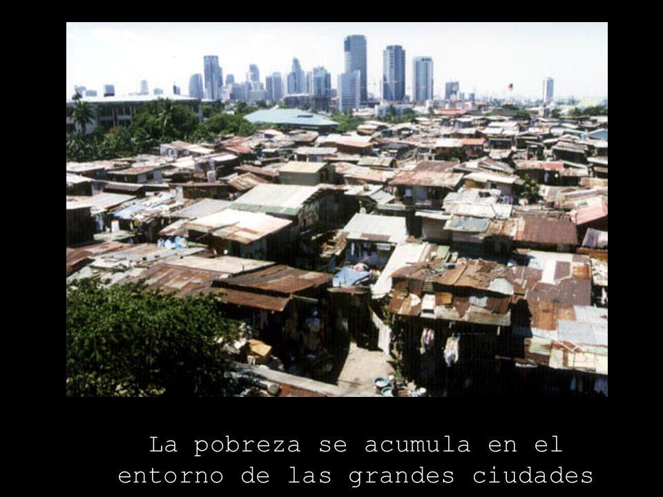 La pobreza se acumula en el entorno de las grandes ciudades
