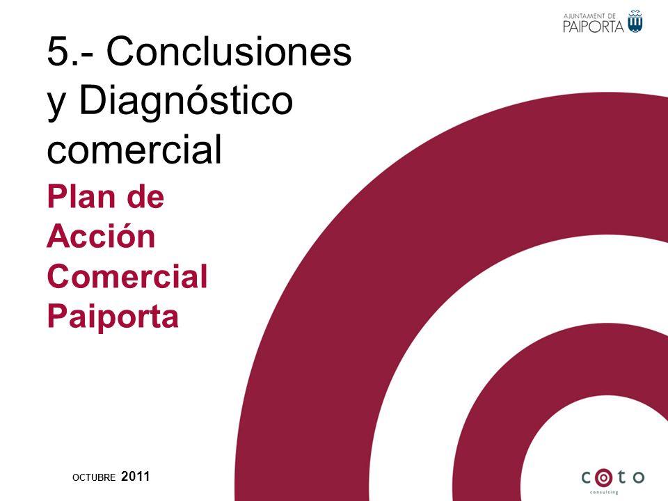 5.- Conclusiones y Diagnóstico comercial OCTUBRE 2011 Plan de Acción Comercial Paiporta
