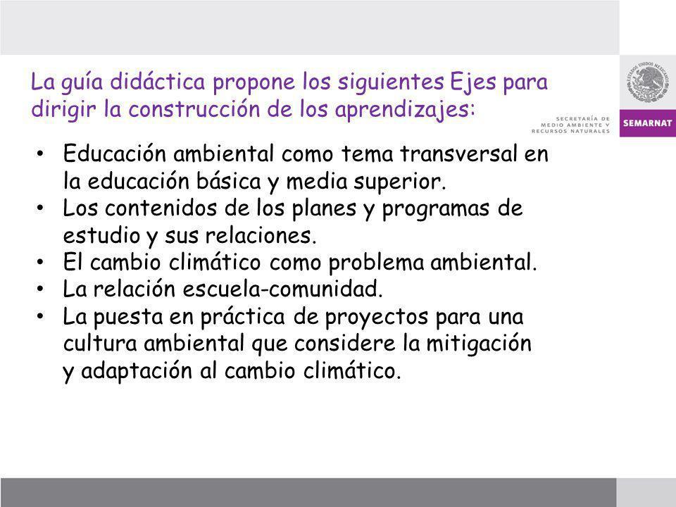 Educación ambiental como tema transversal en la educación básica y media superior. Los contenidos de los planes y programas de estudio y sus relacione