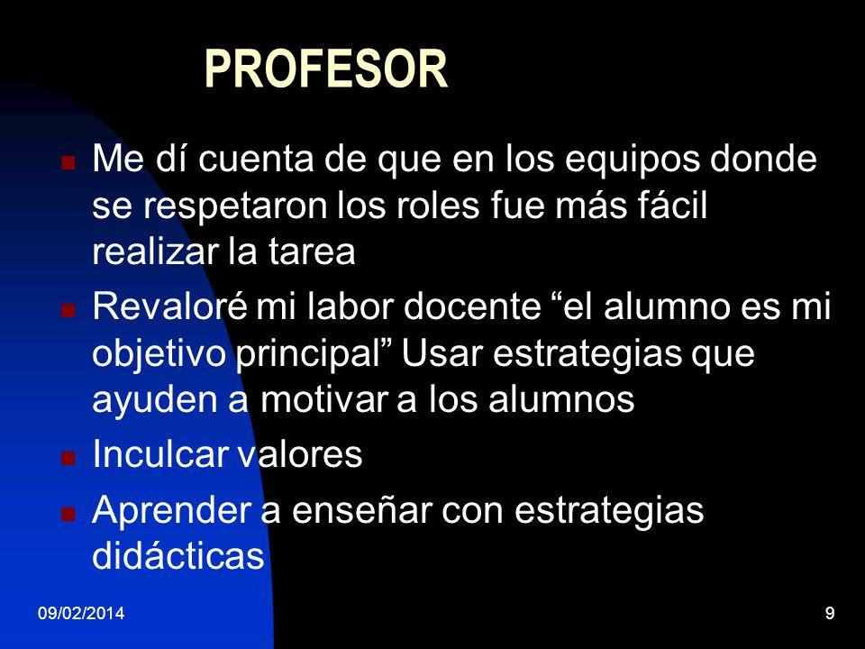 09/02/201410 FRASES Yo no entiendo esas encuestas en que México como país sale en casi último lugar de conocimientos, si nosotros trabajamos con los alumnos y casi todas las escuelas, por eso necesito aprender como se aprende de forma significativa.