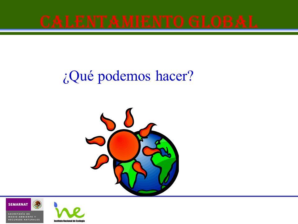 Calentamiento Global ¿Qué podemos hacer?