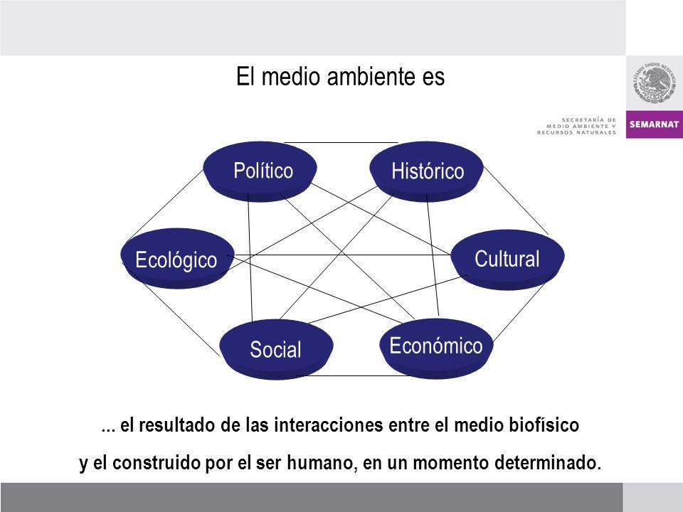 Histórico Político Ecológico Social Económico Cultural El medio ambiente es...