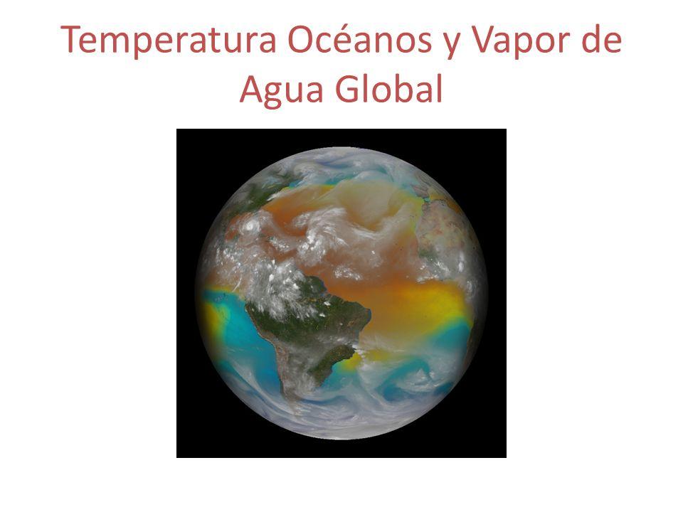 Temperatura Océanos y Vapor de Agua Global
