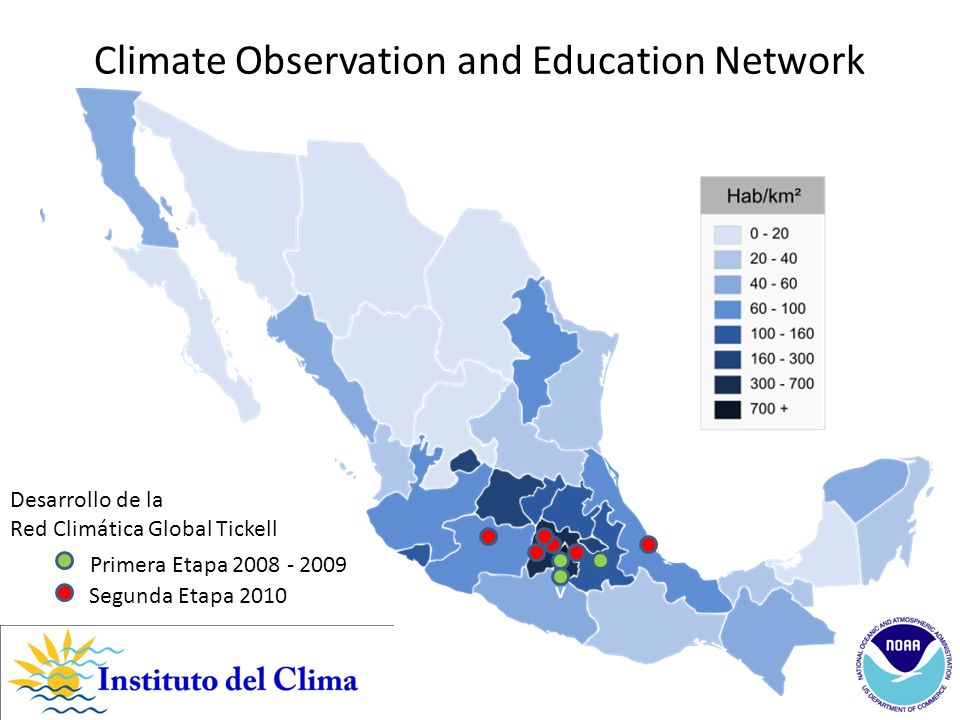 Atlacomulco Valle de Bravo Metepec Texcoco Centros de Educación y Vigilancia Climática Global Estado de México