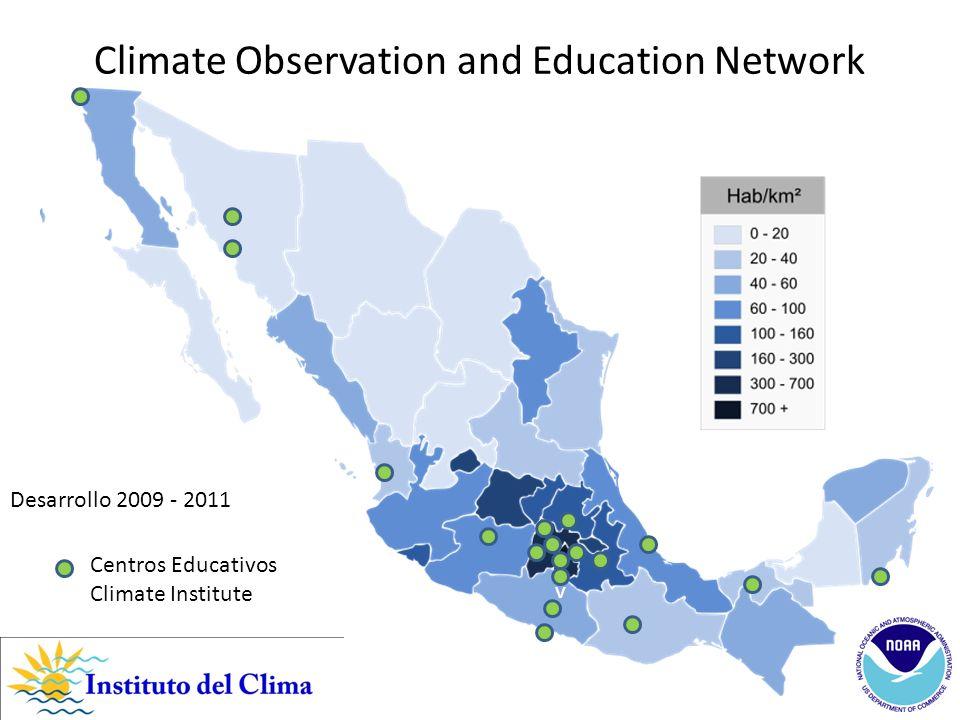 v Climate Observation and Education Network Desarrollo 2009 - 2011 Centros Educativos Climate Institute